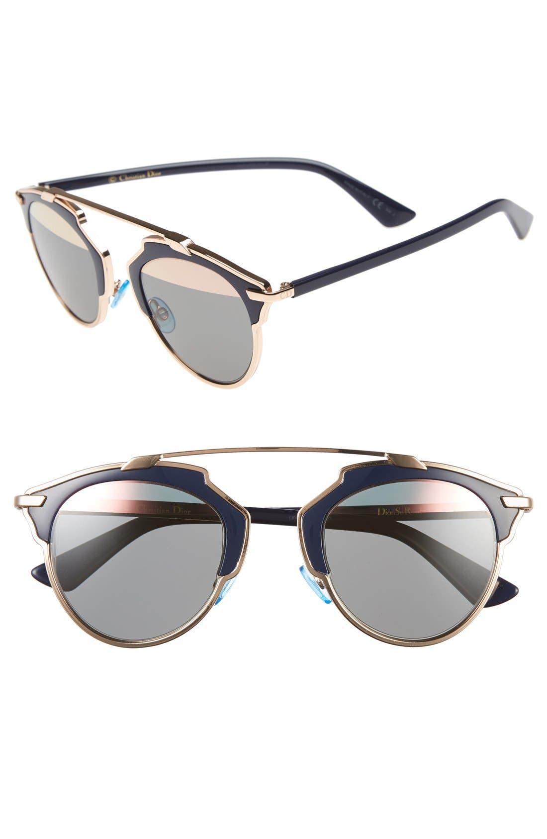 ,                             So Real 48mm Brow Bar Sunglasses,                             Main thumbnail 69, color,                             711