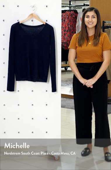 Cashmere V-Neck Sweater, sales video thumbnail