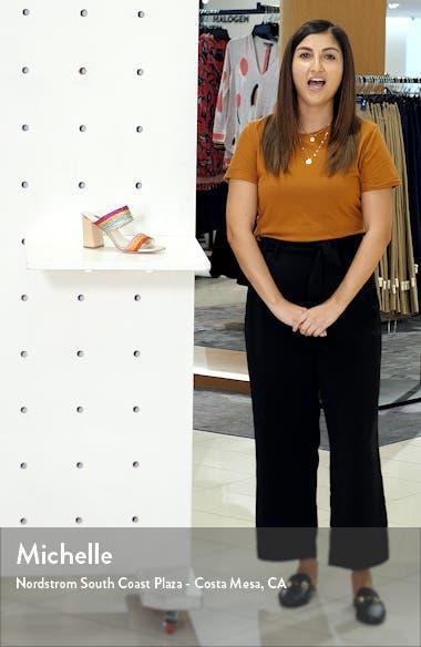 Loni Metallic Braided Strap Sandal, sales video thumbnail