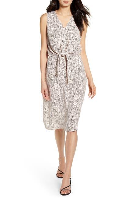 Image of Chelsea28 Sleeveless Tie Front Dress