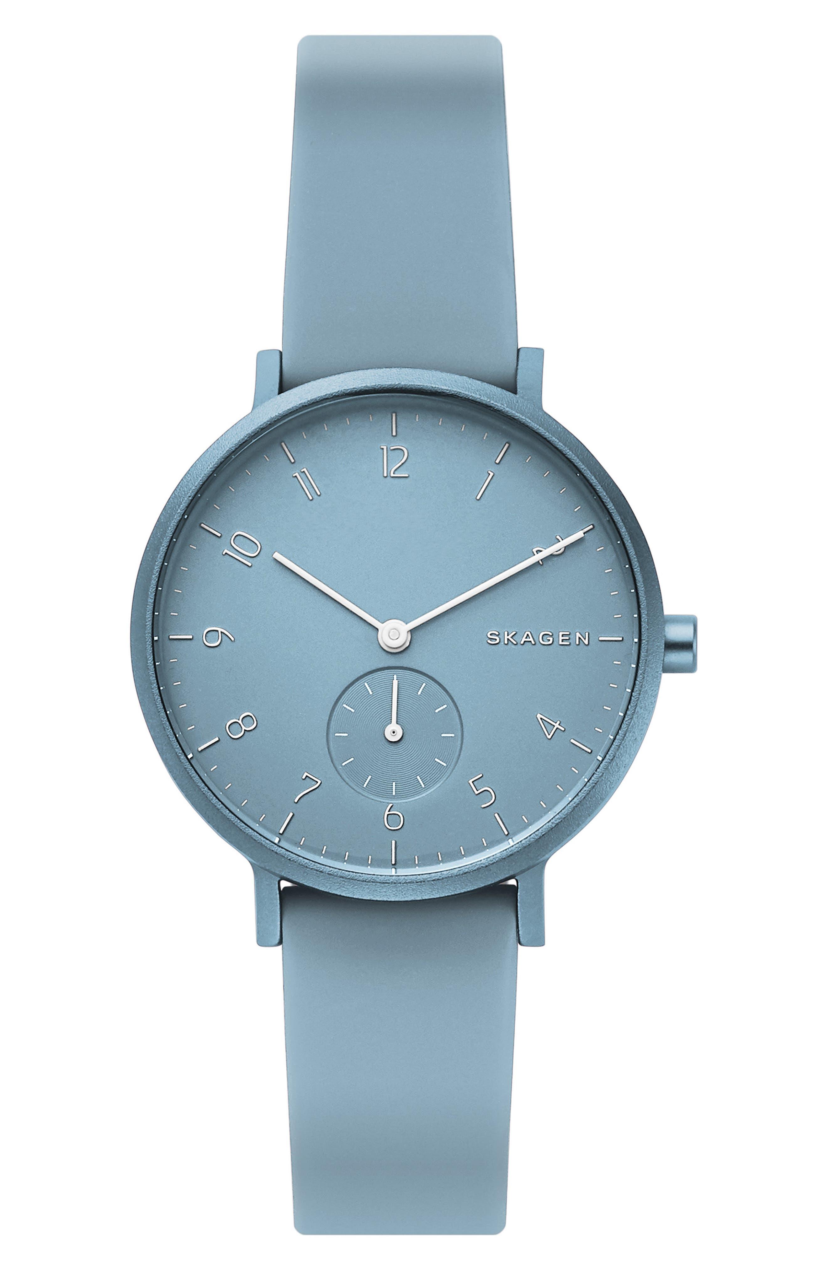 women's skagen aaren kul?r rubber strap watch, 36mm
