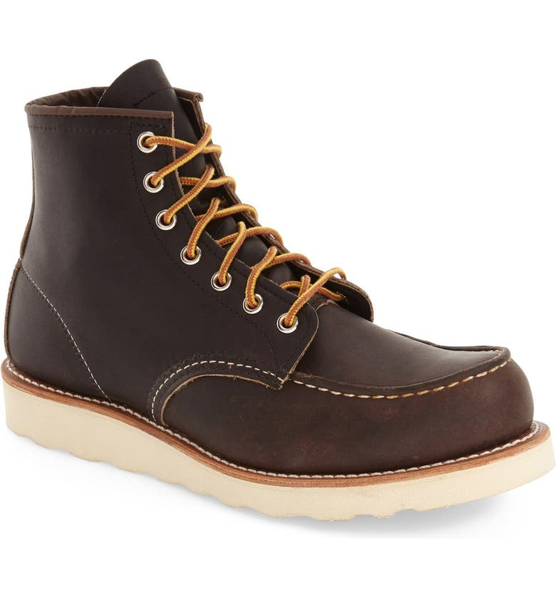 RED WING 6 Inch Moc Toe Boot, Main, color, 200