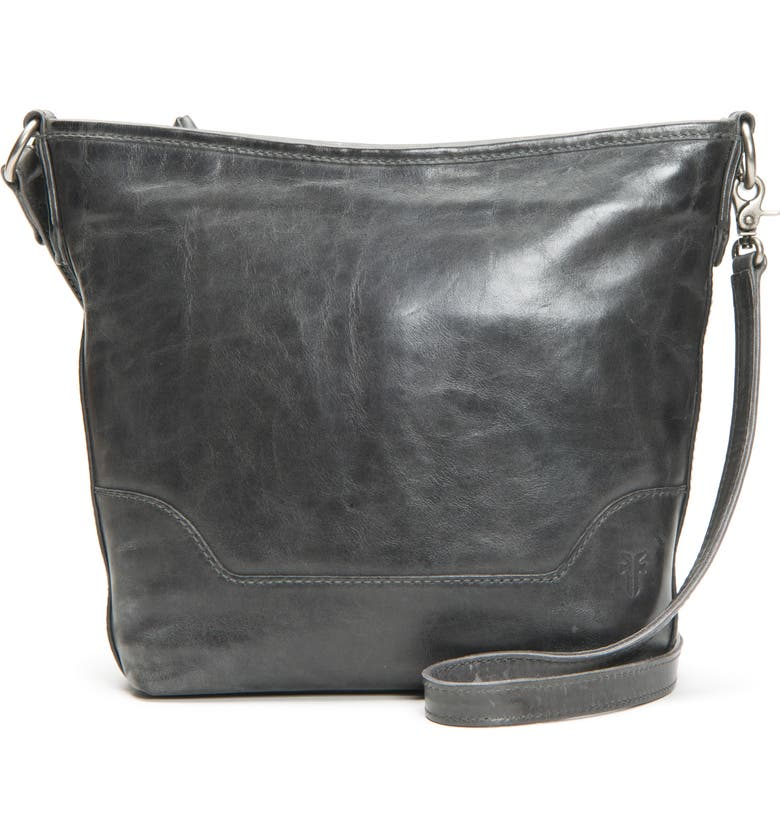 FRYE Small Melissa Leather Hobo Bag, Main, color, CARBON