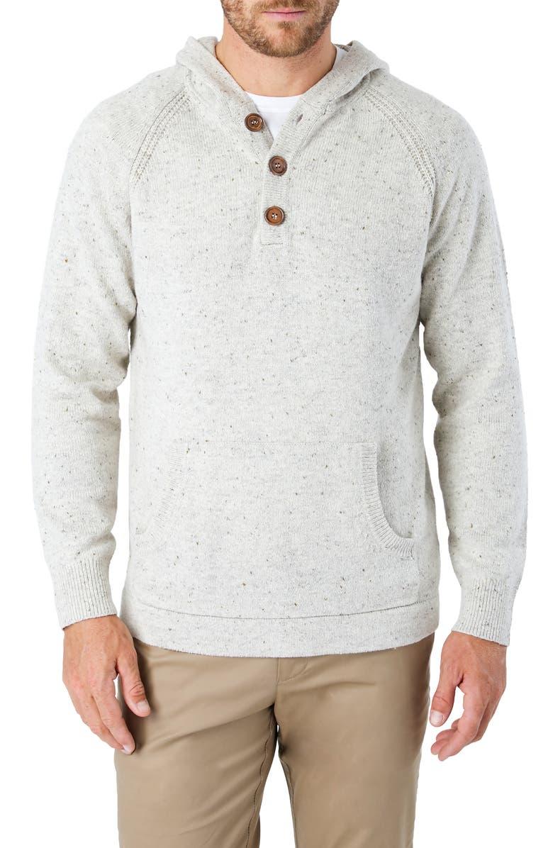 7 DIAMONDS Shasta Regular Fit Hooded Sweater, Main, color, NATURAL