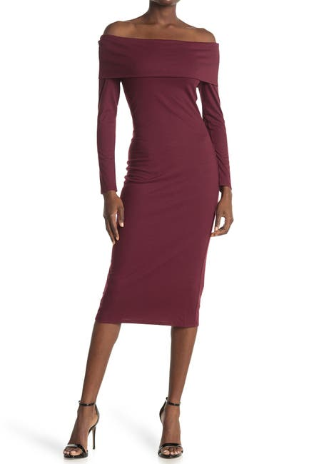 Image of AFRM Azani Off-The-Shoulder Bodycon Dress