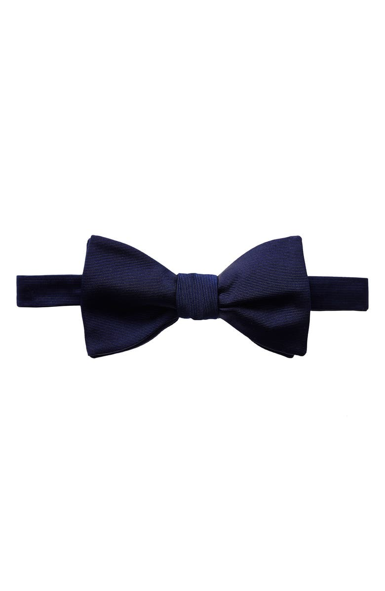 ETON Grosgrain Silk Bow Tie, Main, color, NAVY
