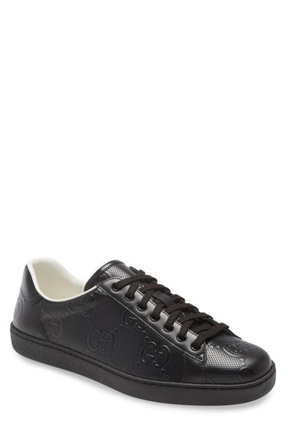 Gucci NEW ACE LOGO LOW TOP SNEAKER