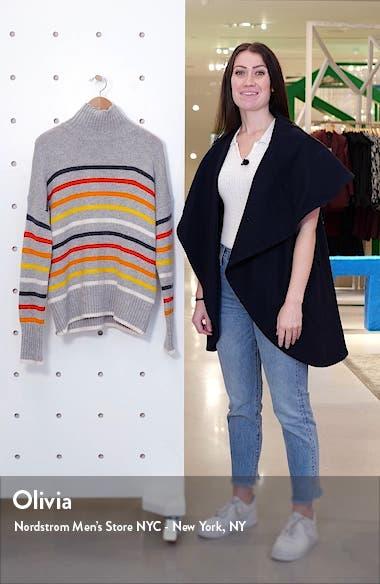 Marin Stripe Wool & Cashmere Turtleneck Sweater, sales video thumbnail