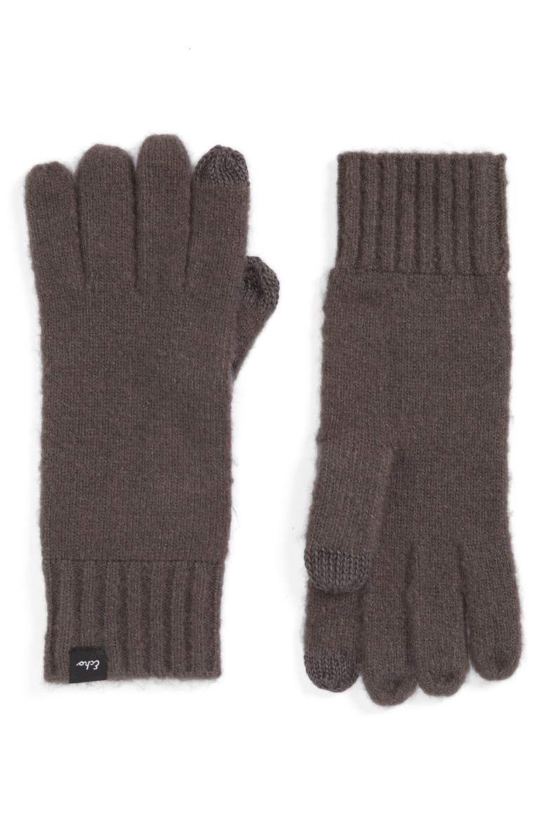 ECHO 'Touch' Stretch Fleece Tech Gloves, Main, color, 011