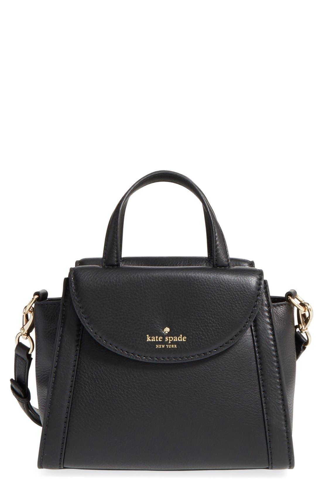 'cobble hill - small adrien' leather satchel, Main, color, 001