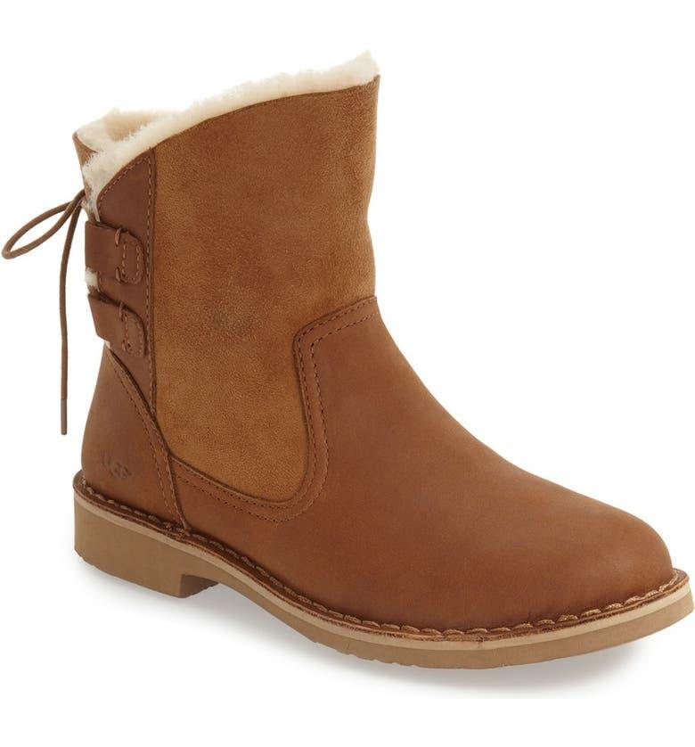 7cb2b0b1ec8 Naiyah Lace-Back Genuine Shearling Boot
