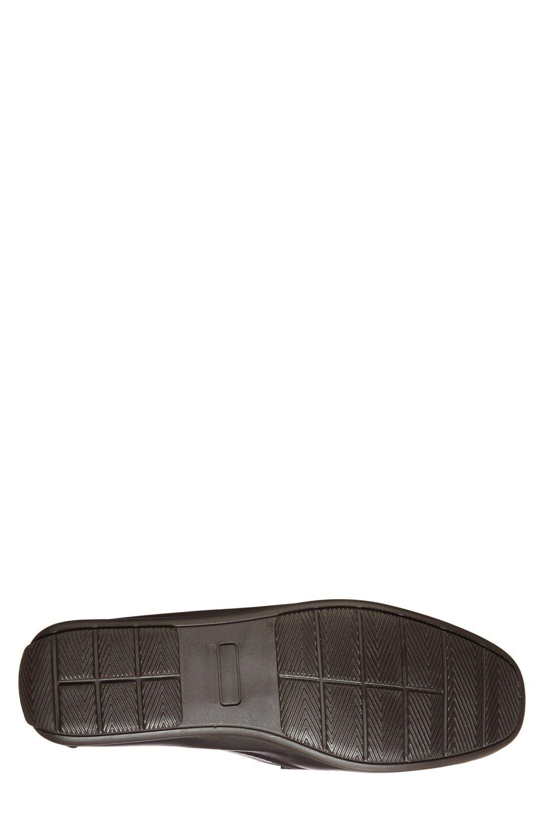 ,                             'Paris' Leather Penny Loafer,                             Alternate thumbnail 4, color,                             BLACK