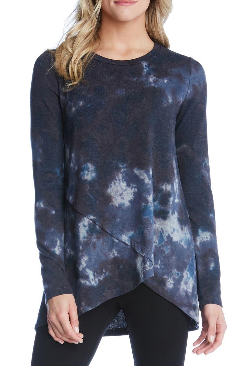 KAREN KANE Tie Dye Crossover Sweater, Main, color, 400