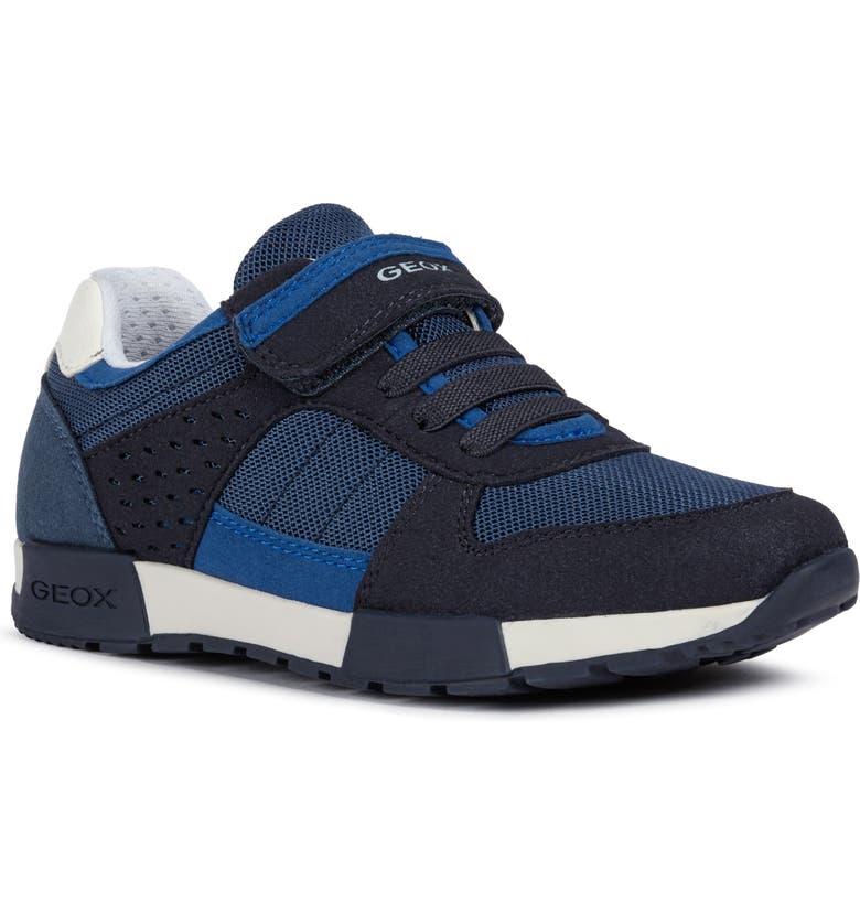 GEOX Alfier Low Top Sneaker, Main, color, AVIO/ ROYAL