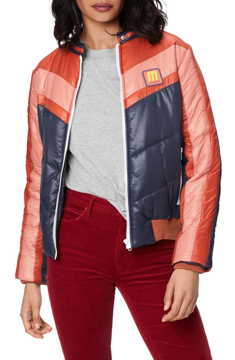 MOTHER The Peak Puffer Jacket, Main, color, ACTION JACKSON