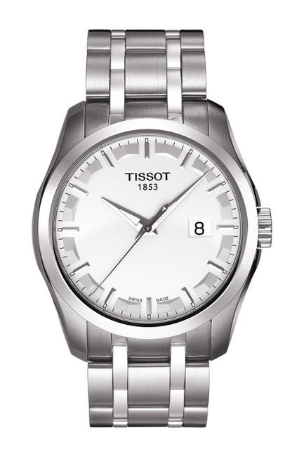 Image of Tissot Men's Couturier Bracelet Watch, 39mm