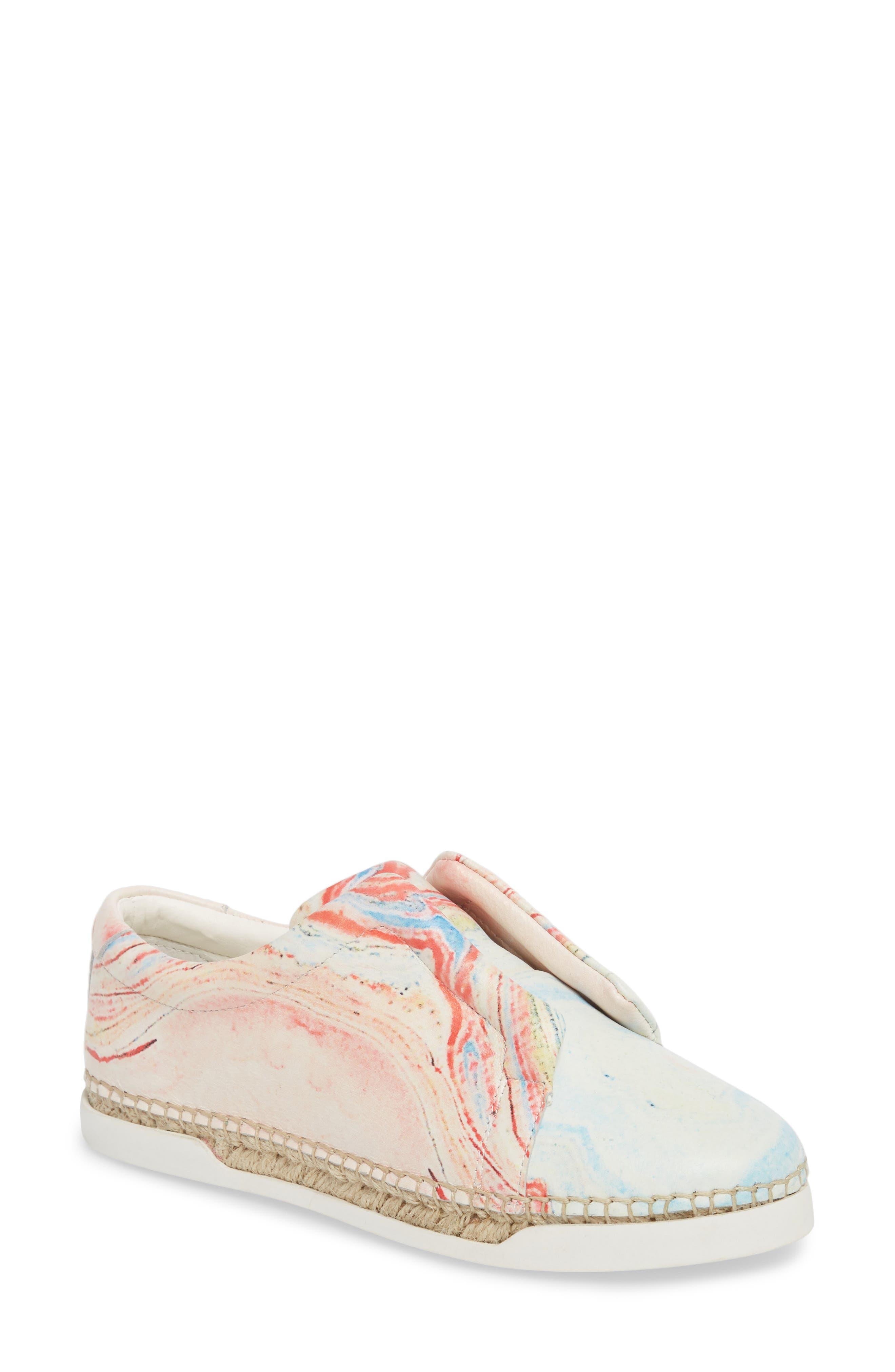 M4D3 Elizabeth Espadrille Slip-On Sneaker- Black