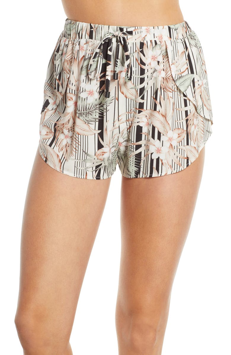 DOLCE VITA Playa Trail Cover-Up Shorts, Main, color, BLACK