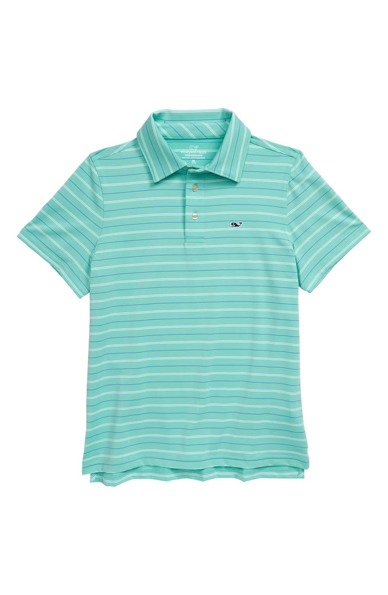 VINEYARD VINES Multistripe Performance Polo, Main, color, 430