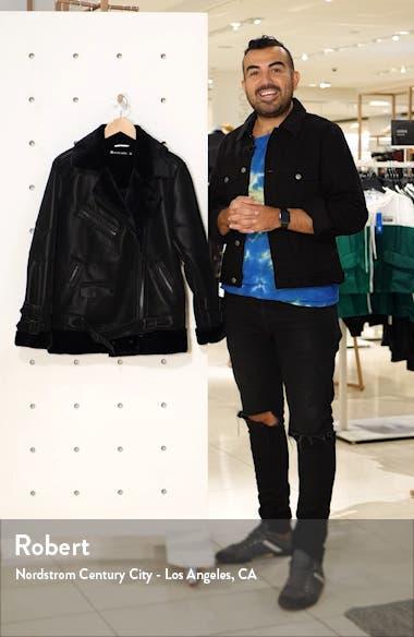 Violetta Faux Shearling Moto Jacket, sales video thumbnail