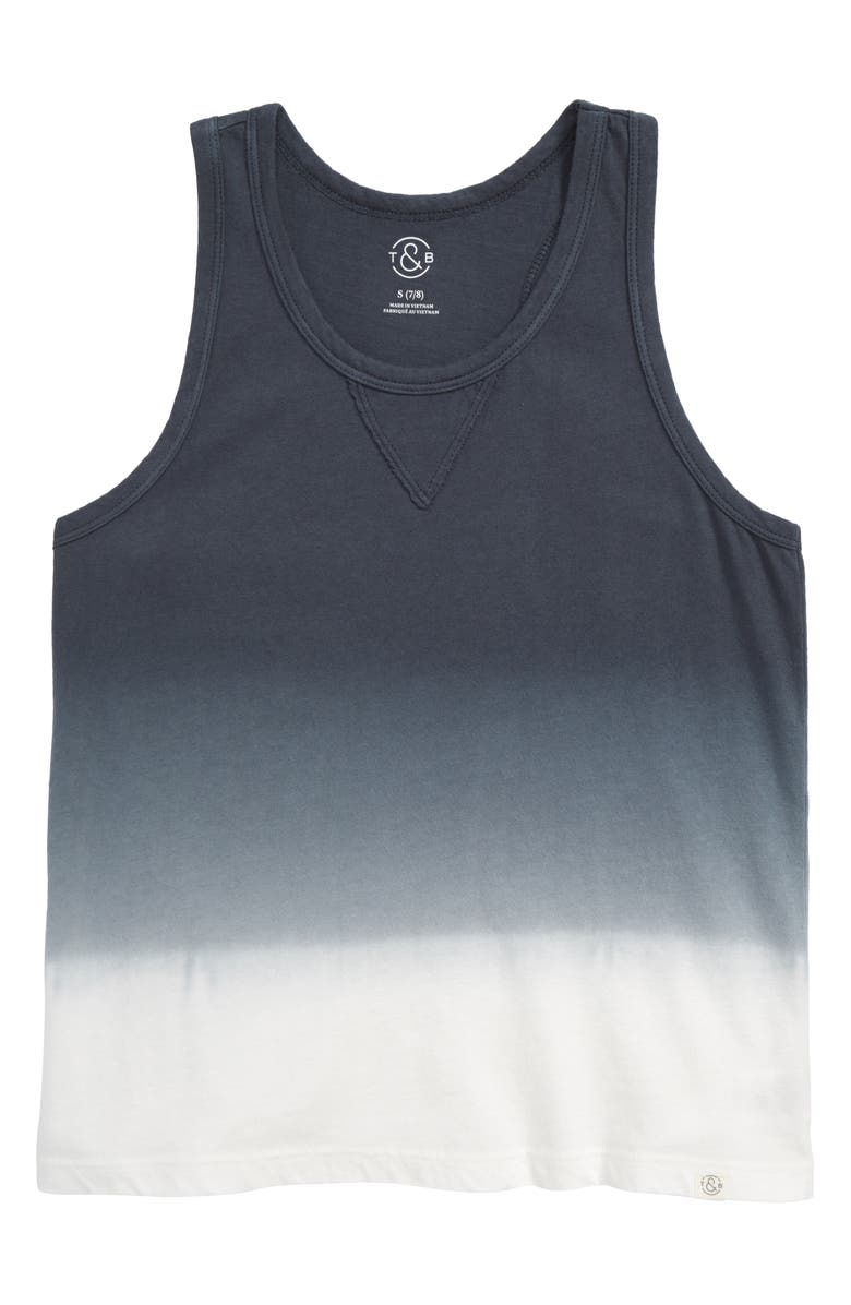 TREASURE & BOND Dip Dyed Tank, Main, color, GREY TURBULENCE TIE DYE
