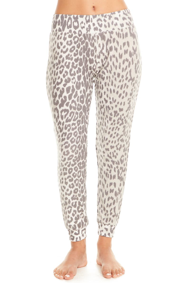 CHASER Cozy Knit Lounge Jogger Pants, Main, color, ANIMAL