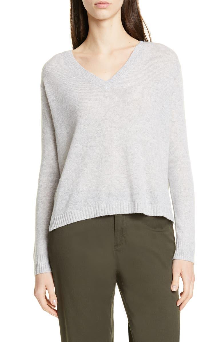 ATM ANTHONY THOMAS MELILLO Cashmere V-Neck Sweater, Main, color, FOGGY