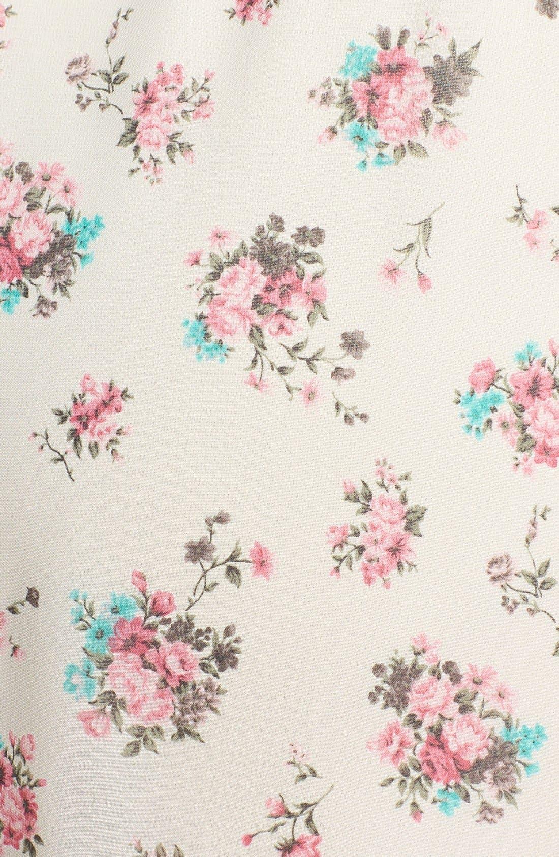 ,                             Lace Trim Floral Print Shorts,                             Alternate thumbnail 26, color,                             900
