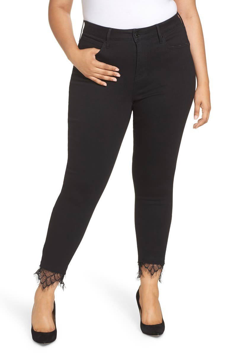 SEVEN7 Embroidered Side Skinny Jeans, Main, color, ABYSS