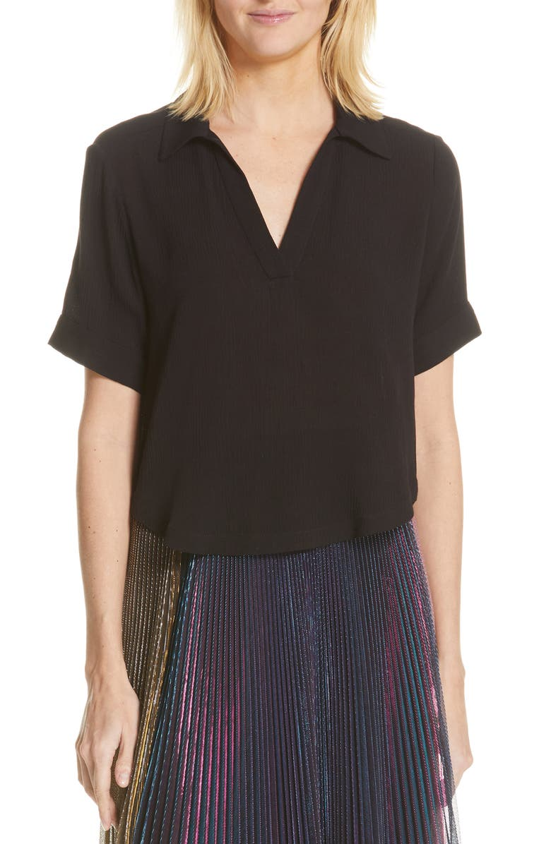 RACHEL COMEY New Swift Polo, Main, color, BLACK