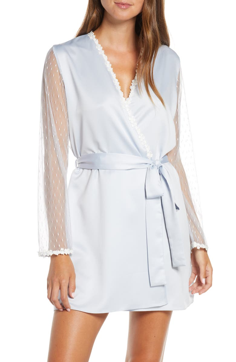 FLORA NIKROOZ Showstopper Robe, Main, color, ARTIC ICE