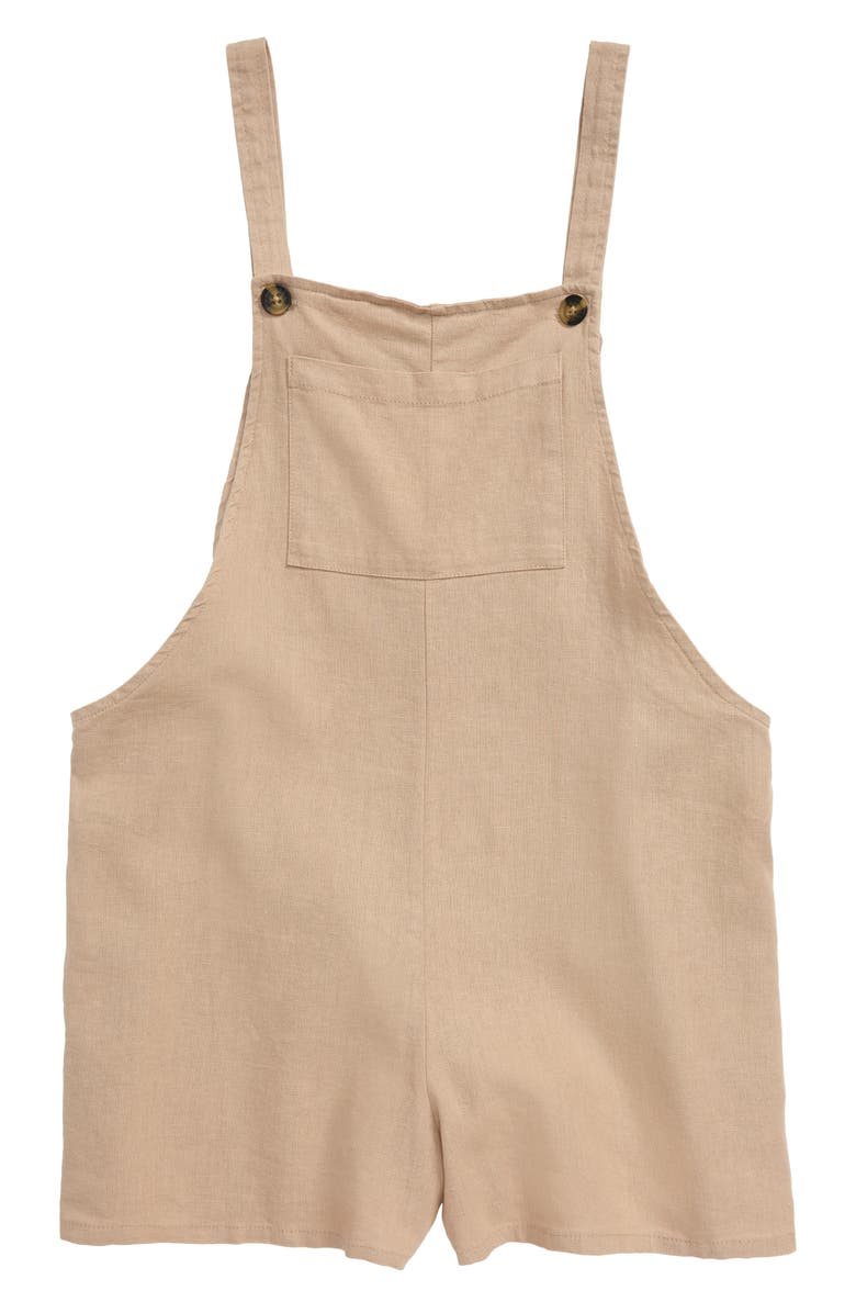 SEED HERITAGE Short Overalls, Main, color, MOCHA
