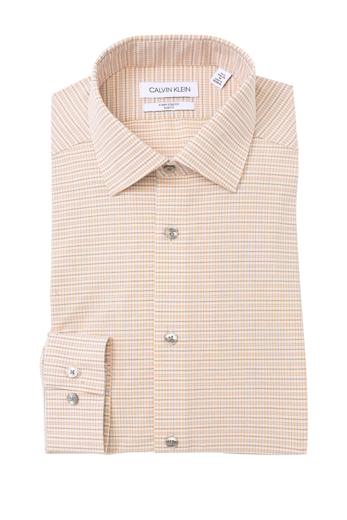 Image of Calvin Klein Stretch Slim Fit Dress Shirt