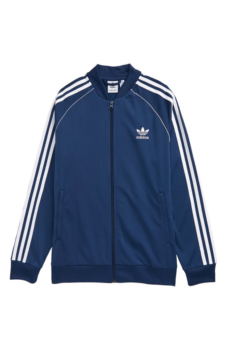 ADIDAS ORIGINALS Superstar Recycled Polyester Track Jacket, Main, color, NIGHT MARINE/ WHITE