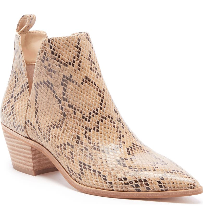 SOLE SOCIETY Laurelah Bootie, Main, color, BEIGE LEATHER