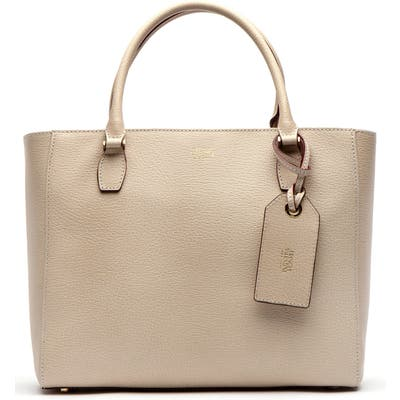Frances Valentine Olivia Boarskin Leather Tote - Ivory