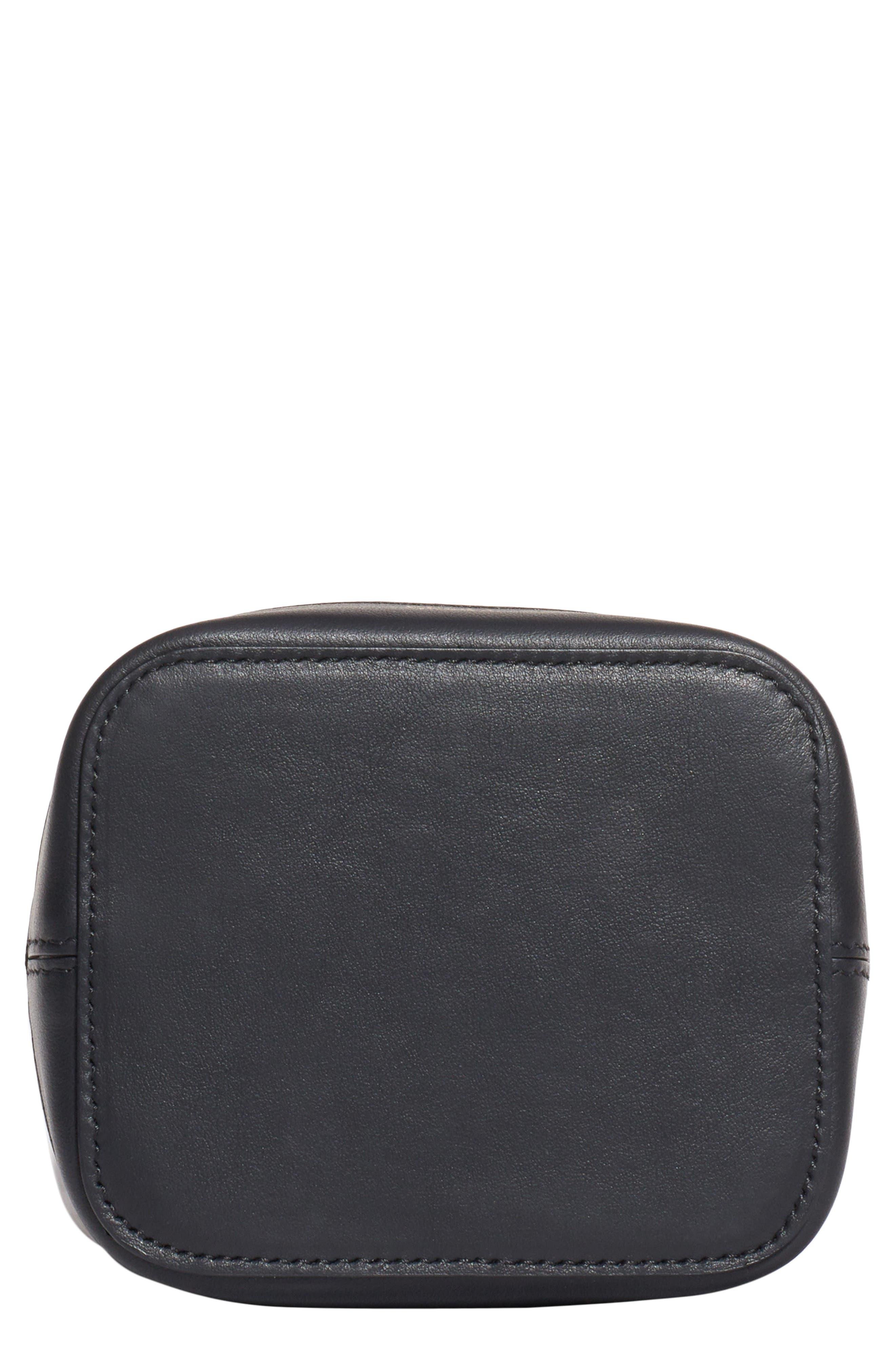 ,                             Mini Mon Tresor Transparent Bucket Bag,                             Alternate thumbnail 4, color,                             NERO/ ORO SOFT