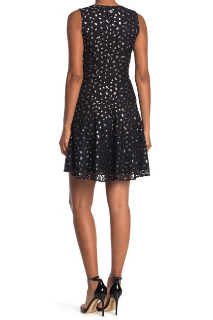 Image of Tommy Hilfiger Leopard Lace Fit and Flare