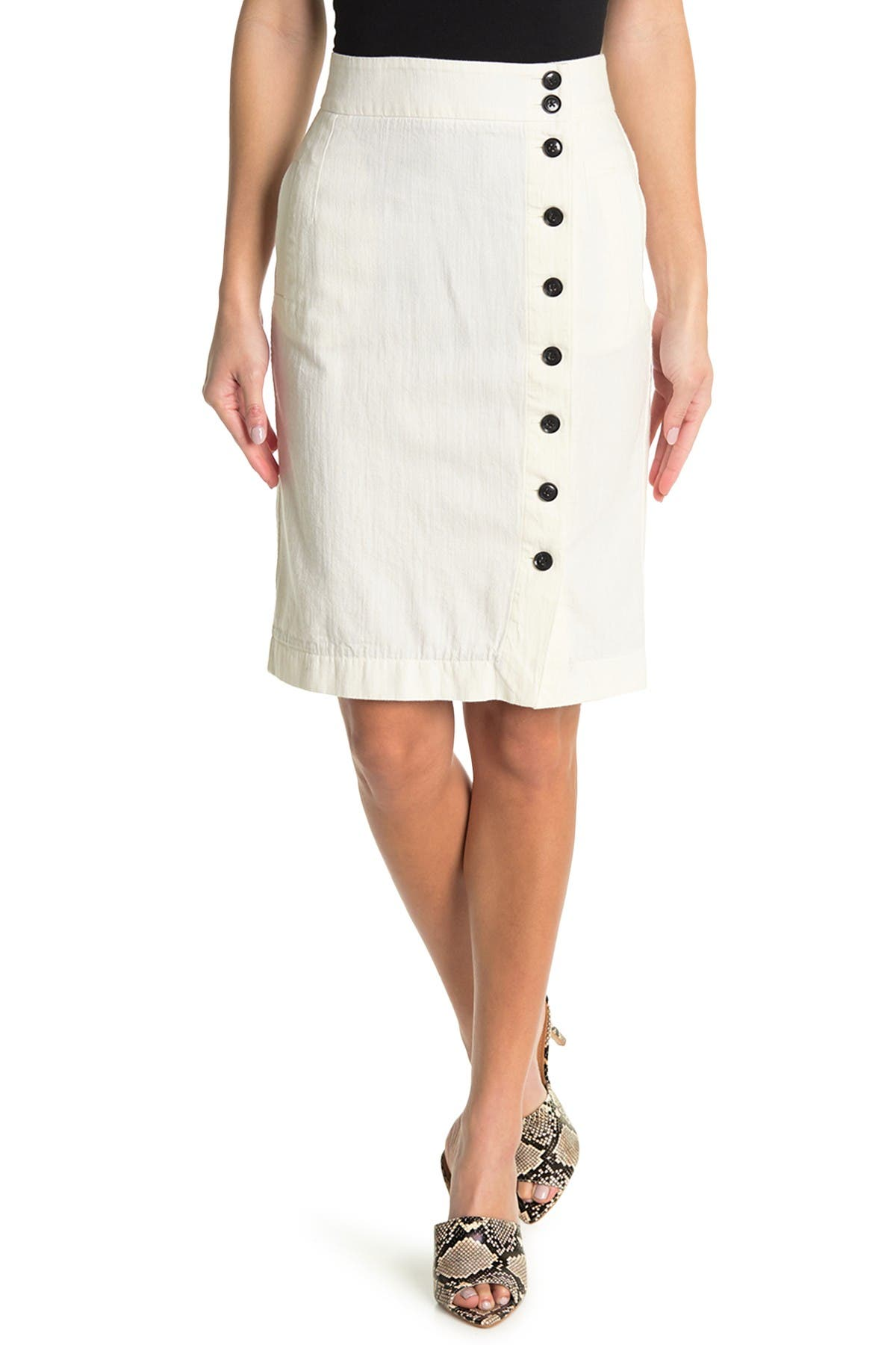 Image of BALDWIN Wednesday Button-Front Skirt