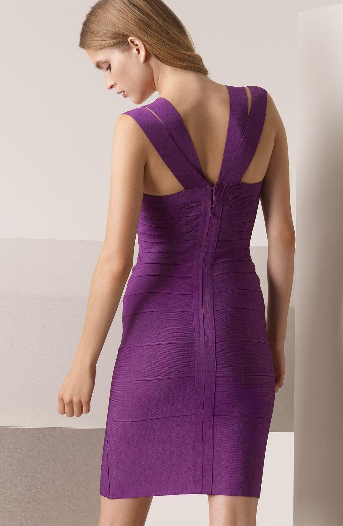 ,                             Double Strap Bandage Dress,                             Alternate thumbnail 4, color,                             674