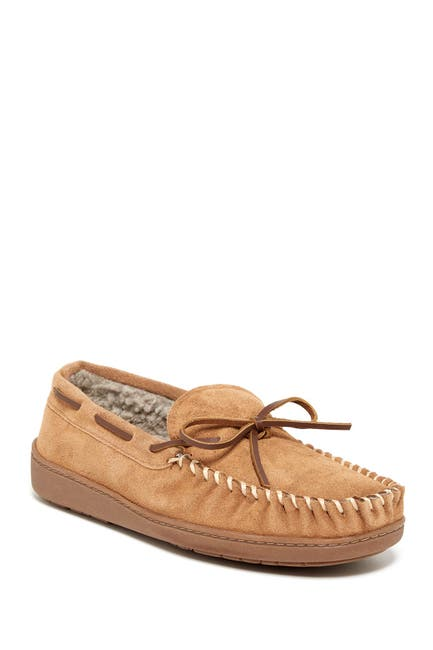 Image of Minnetonka Tory Traditional Trapper Faux Fur Lined Suede Slipper