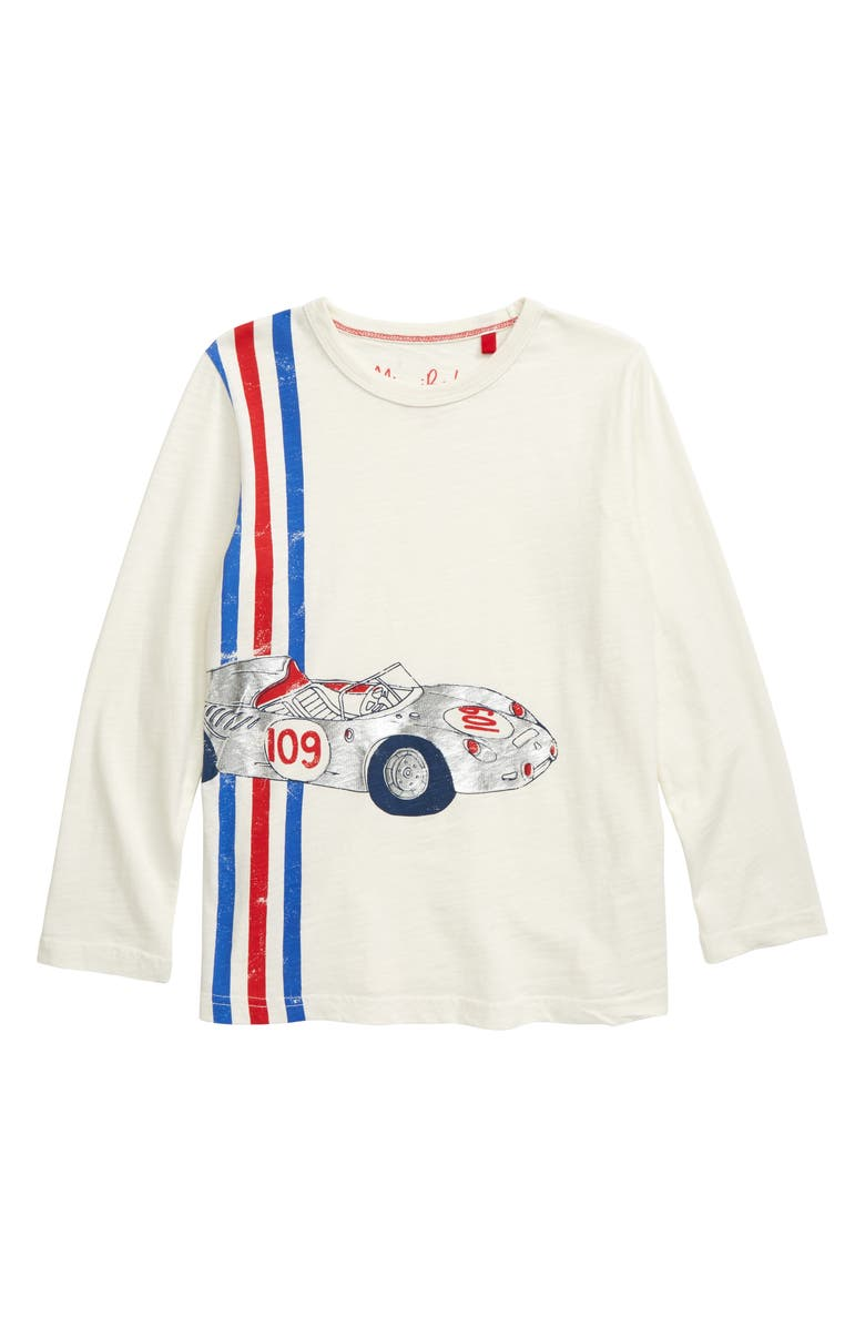 MINI BODEN Sports Car Graphic T-Shirt, Main, color, IVORY