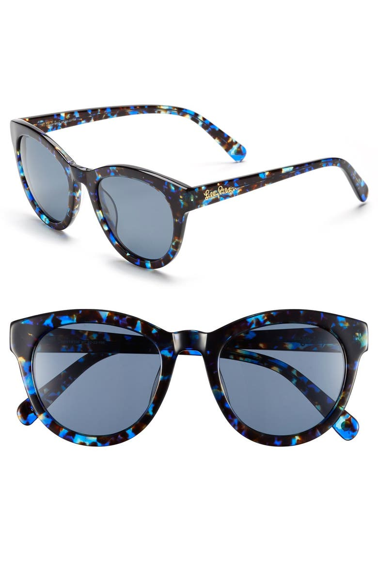 LILLY PULITZER<SUP>®</SUP> 'Hartley' 52mm Polarized Sunglasses, Main, color, 400