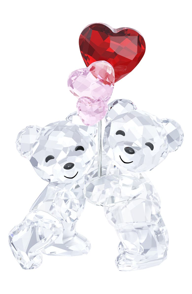 SWAROVSKI Crystal Kris Bears with Balloons, Main, color, CLEAR/ MULTI