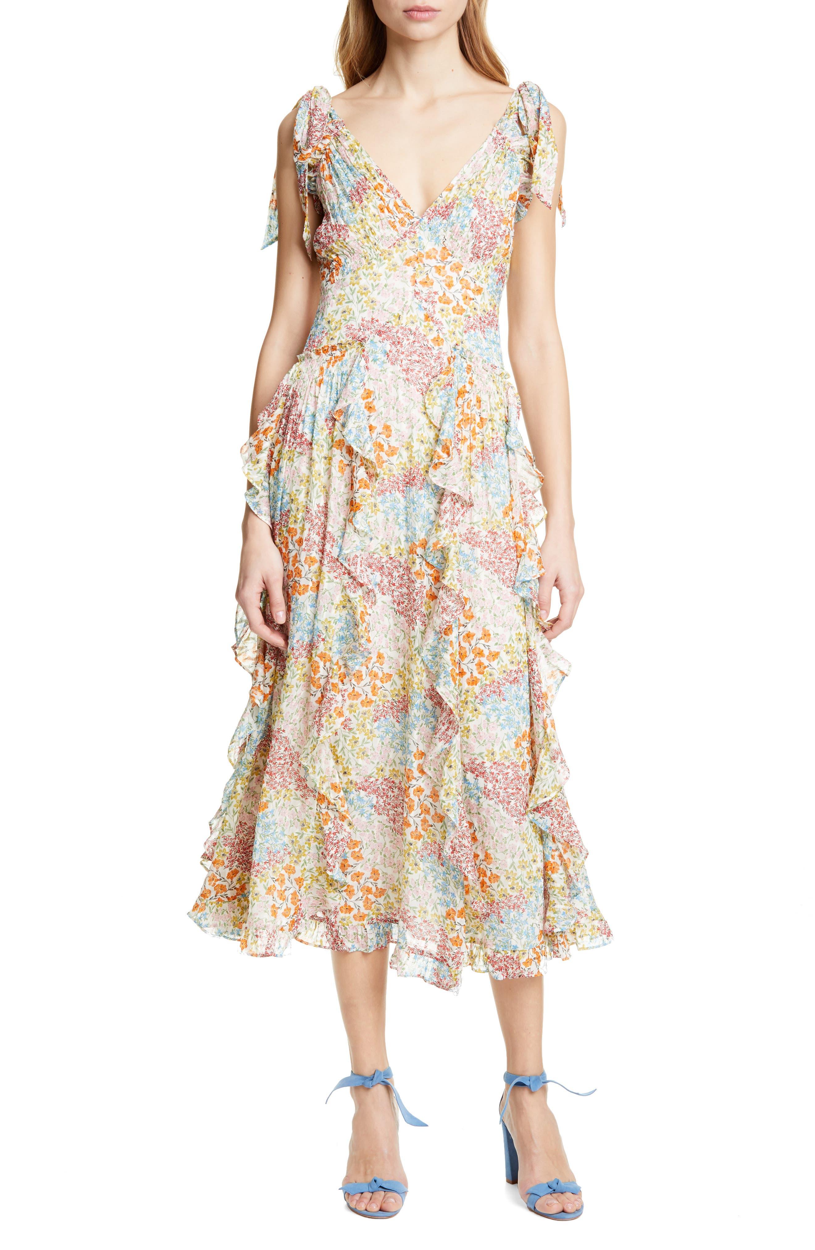 Rebecca Taylor Ave Floral Sundress, Ivory