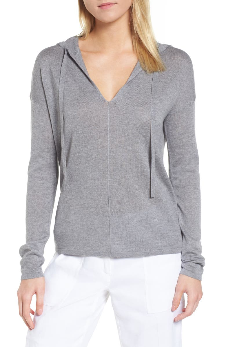 NORDSTROM SIGNATURE Silk & Cashmere Hoodie, Main, color, 030