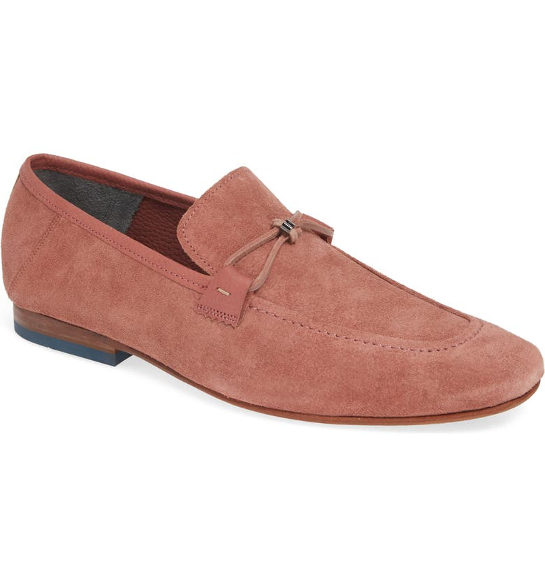 TED BAKER LONDON Siblac Bit Loafer, Main, color, DARK PINK SUEDE