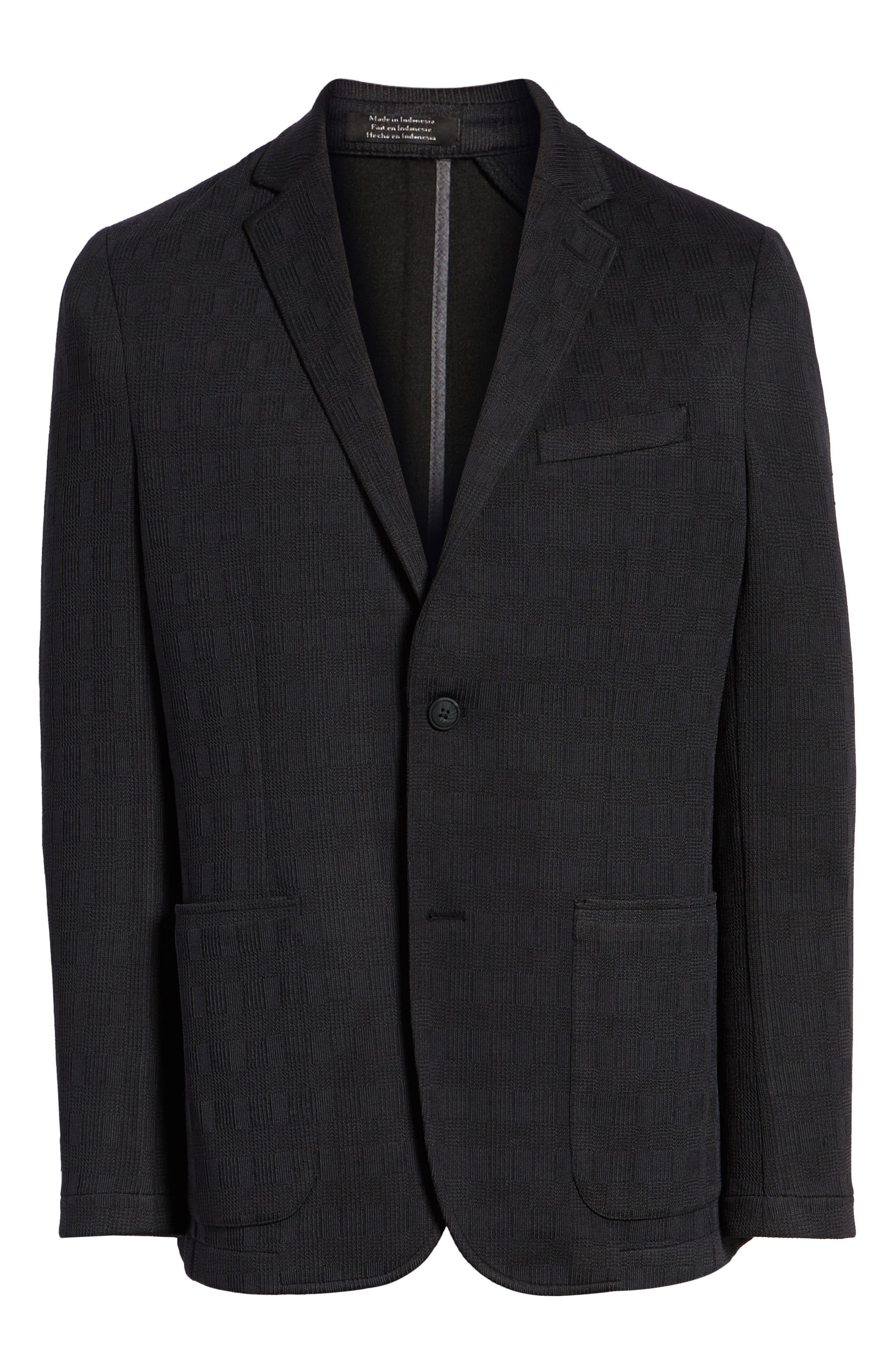 ,                             Slim Fit Stretch Knit Sport Coat,                             Alternate thumbnail 7, color,                             CHARCOAL CHECK