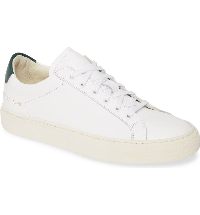 COMMON PROJECTS Retro Low Special Edition Sneaker, Main, color, WHITE/ GREEN