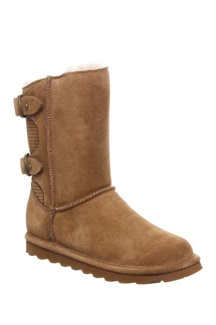 Image of BEARPAW Clara Wide Suede Ankle Boot
